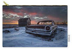 Carry-all Pouch featuring the photograph Frozen Galaxie 500  by Aaron J Groen