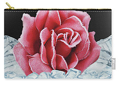 Frozen Rose Carry-all Pouch
