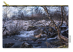 Frozen Tree In Winter River Carry-all Pouch