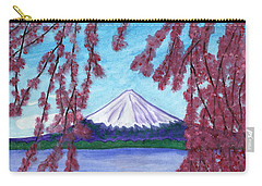 Fuji Mountain And Sakura Carry-all Pouch