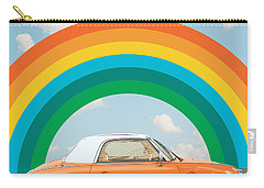 Funky Rainbow Ride Carry-all Pouch