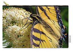 Fuzzy Butterfly Carry-all Pouch