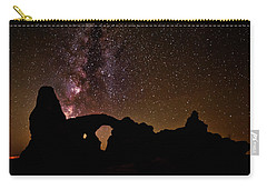 Carry-all Pouch featuring the photograph Galactic Turret Arch by Andy Crawford