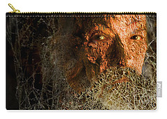 Carry-all Pouch featuring the digital art Gandalf - Cobwebby Self-portrait by Attila Meszlenyi