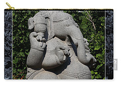 Carry-all Pouch featuring the photograph Ganesha In The Garden by Debi Dalio