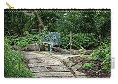 Carry-all Pouch featuring the photograph Garden Bench by Dale Kincaid