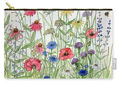 Garden Flower Medley Watercolor Carry-all Pouch