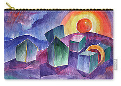 Carry-all Pouch featuring the painting Geometric Landscape by Dobrotsvet Art