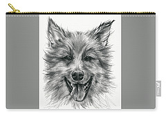Carry-all Pouch featuring the drawing German Shepherd Smile by MM Anderson