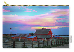 Carry-all Pouch featuring the photograph Ghost Horses Pastel Sky Timed Stack by James BO Insogna