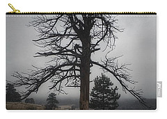 Carry-all Pouch featuring the photograph Ghostly Snag by Dan Miller