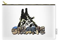 Giraffe Big Letter Carry-all Pouch
