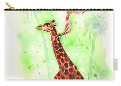 Giraffe In A Beetle Carry-all Pouch