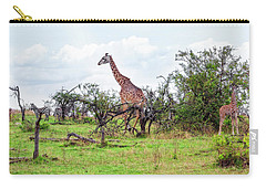 Carry-all Pouch featuring the photograph Giraffe Landscape by Kay Brewer
