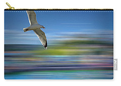 Carry-all Pouch featuring the photograph Gull Flight #192 by Edmund Nagele