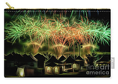 Carry-all Pouch featuring the photograph Global Fest Light Show by Brad Allen Fine Art