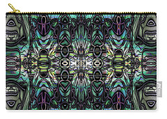 Carry-all Pouch featuring the digital art Glyph by Kiki Art
