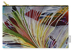 Carry-all Pouch featuring the painting God Gives Us Roots And Wings by Kate Word