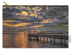 Carry-all Pouch featuring the photograph Godrays Over The Pier by Guy Whiteley