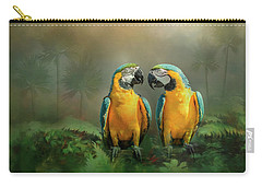 Gold And Blue Macaw Pair Carry-all Pouch