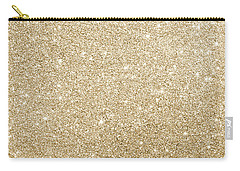 Carry-all Pouch featuring the photograph Gold Glitter by Top Wallpapers