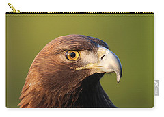 Carry-all Pouch featuring the photograph Golden Eagle 5151801 by Rick Veldman