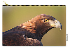 Carry-all Pouch featuring the photograph Golden Eagle 5151806 by Rick Veldman