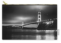 Golden Gate Bridge B/w Carry-all Pouch