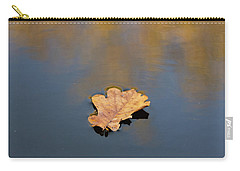 Golden Leaf On Water Carry-all Pouch