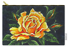 Golden Rose Sketch Carry-all Pouch