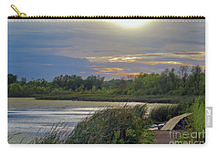 Golden Sunset Over Wetland Carry-all Pouch