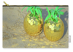 Carry-all Pouch featuring the photograph Golden Tiki by Jamart Photography