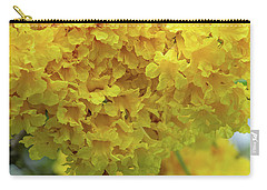Carry-all Pouch featuring the photograph Golden Tree, Golden Trumpet Tree Or Tallow Pui Dthn0255 by Gerry Gantt