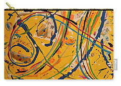 Carry-all Pouch featuring the painting Gone Fishing by Pam Roth O'Mara