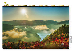 Carry-all Pouch featuring the photograph Gorge Sunrise by Meta Gatschenberger