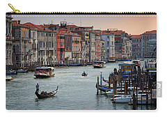 Grand Canal Gondolier Venice Italy Sunset Carry-all Pouch