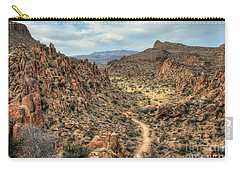 Carry-all Pouch featuring the photograph Grapevine Mountain Trail by Joe Sparks
