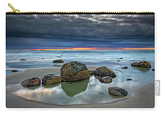 Carry-all Pouch featuring the photograph Gray Morning On Wells Beach by Rick Berk