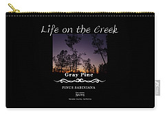 Gray Pine Carry-all Pouch