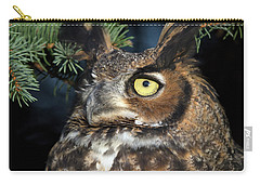 Carry-all Pouch featuring the photograph Great Horned Owl 10181801 by Rick Veldman
