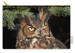 Carry-all Pouch featuring the photograph Great Horned Owl 10181802 by Rick Veldman