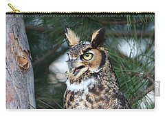 Carry-all Pouch featuring the photograph Great Horned Owl 5151801 by Rick Veldman