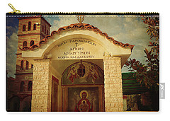 Carry-all Pouch featuring the photograph Greek Church by Milena Ilieva
