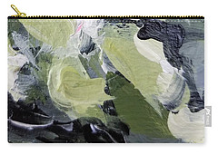 Carry-all Pouch featuring the painting Green #1 by Maria Langgle