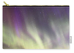 Green And Purple Fire In The Sky Carry-all Pouch