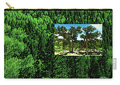 Carry-all Pouch featuring the photograph Green As Ever Forest by Mike Braun