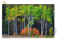 Green Aspens Red Bushes Carry-all Pouch