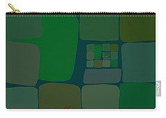 Carry-all Pouch featuring the digital art Green by Attila Meszlenyi