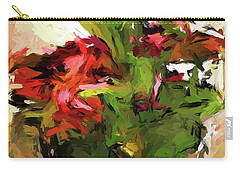 Green Leaves And The Red Flower Carry-all Pouch