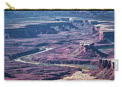 Carry-all Pouch featuring the photograph Green River Moonscape by Andy Crawford